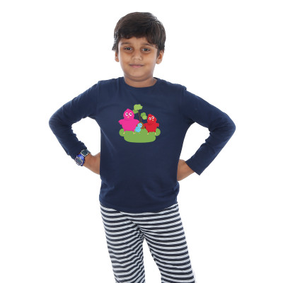 Blue Full Sleeve Boys Pyjama - Chicks